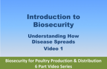 Introduction to Biosecurity - Video 1 of Biosecurity for Poultry Production & Distribution 6 Part Video Series