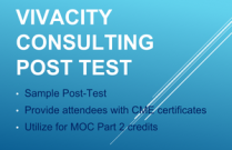 Vivacity Consulting Post-Test Sample