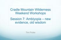 Amblyopia - new evidence, old wisdom