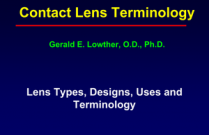 Contact Lens Terminology