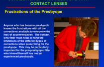 Correction of the Presbyope With Contact Lenses