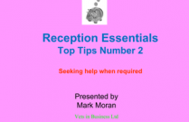 Reception Essentials - Top Tip No. 2 - Seeking help when required