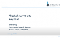 Physical Activity and Surgery