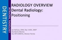 Dental Radiology: Positioning