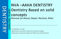 Dentistry based on Solid Concepts - Remove, Repair, Recheck, Refer
