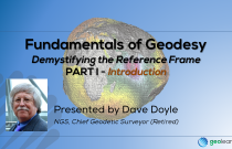 Fundamentals of Geodesy Part I - Introduction