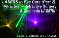 LASERS in Eye Care (Part 2):  Refraction – Refractive Surgery & Cosmetic LASERs