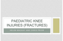 Fractures to the Paediatric Knee