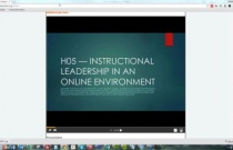 Instructional Leadership in an Online Environment Jan 2015