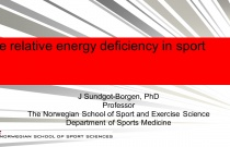 Relative Energy deficiency in Sport