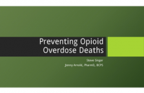 Preventing Opioid Overdose Deaths for Pharmacists