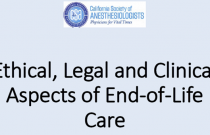 Ethical, Legal and Clinical Aspects of End-of-Life Care