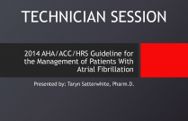 2014 AHA/ACC/HRS Guideline for the Management of Patients with Atrial Fibrillation - TECHNICIAN [PSHP]
