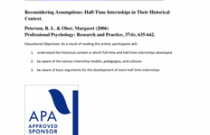 Reconsidering Assumptions: Half-Time Internships in Their Historical Context