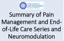Summary of Pain Management and End-Of-Life Care Series, and Neuromodulation