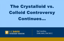 The Crystalloid vs. Colloid Controversy Continues…