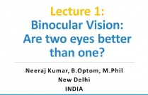 Lecture 1: Binocular Vision: Are two eyes better than one?
