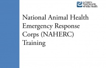 National Animal Health Emergency Response Corps (NAHERC) Training