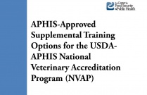 APHIS-Approved Supplemental Training Options for