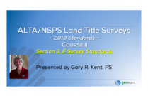 ALTA/NSPS 2016 Standards Course II - Section 3.E Survey Standards