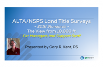 The 2016 ALTA/NSPS Standards – An Overview