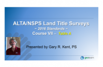 The 2016 ALTA/NSPS Standards – Course VII -Table A