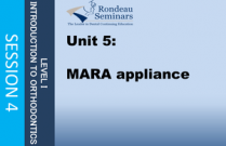 MARA appliance - Session#4: Unit 5