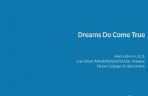 Dreams do come true - Vision Rehabilitation