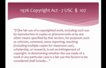 "Copyright ""Fair Use:"" What Creative Artists Need to Know"