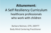 Attunement: A Self Resiliency Curriculum For Nurses