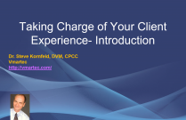 Taking charge of your client experience- Introduction