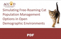 Simulating Free-Roaming Cat Population Management Options in Open Demographic Environments