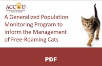A Generalized Population Monitoring Program to Inform the Management of Free-Roaming Cats