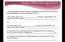 Collaboration Agreements for Creative Artists