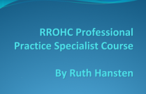 RROHC Professional Practice Specialist Course