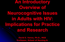An Introductory Overview of Neurocognitive Issues in Adults with HIV: Implications for Practice and Research