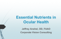 Essential Nutrients in Ocular Health