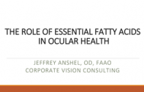 The Role of Essential Fatty Acids in Ocular Health