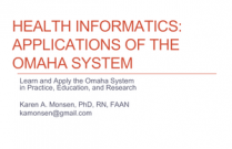 Health Informatics: Applications of the Omaha System