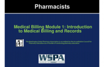 Medical Billing Module 1: Introduction to Medical Billing and Records for Pharmacists