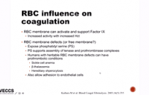 IVECCS 2016 MDR: The Role of of RBC in Coagulation