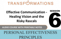 Personal Effectiveness Principles Session 6: Effective Communication - Healing Vision and the Risky Rascals