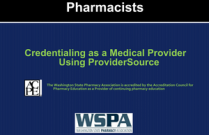 Credentialing as a Medical Provider using ProviderSource for Pharmacists