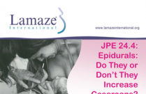 JPE 24.4: Epidurals: Do They or Don't They Increase Cesareans?