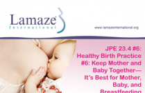JPE 23.4 #6 Healthy Birth Practice #6: Keep Mother and Baby Together