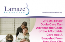 JPE 24.1 How Doula Care Can Advance the Goals of the Affordable Care Act: A Snapshot From NYC