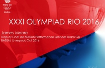XXXI Olympiad Rio 2016 - Medical considerations