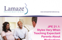 JPE 21.1 Styles Vary When Teaching Expectant Parents About Medications