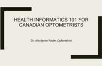 Health Informatics for Optometrists