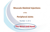 Injections of the wrist and hand
